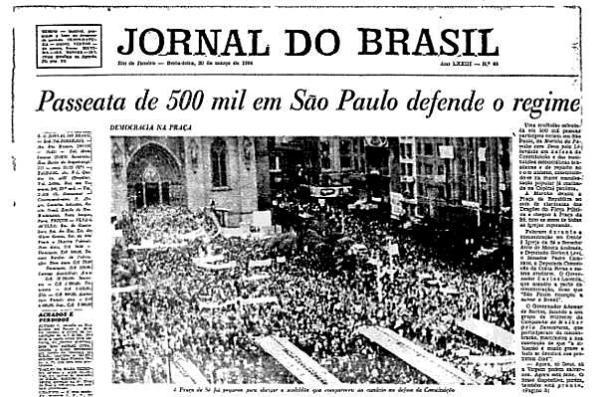 Revolução democrática de 1964 - Povo apoia